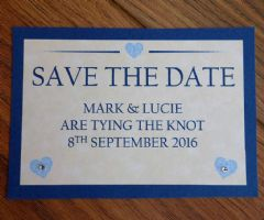 Save the Date with matching envelope